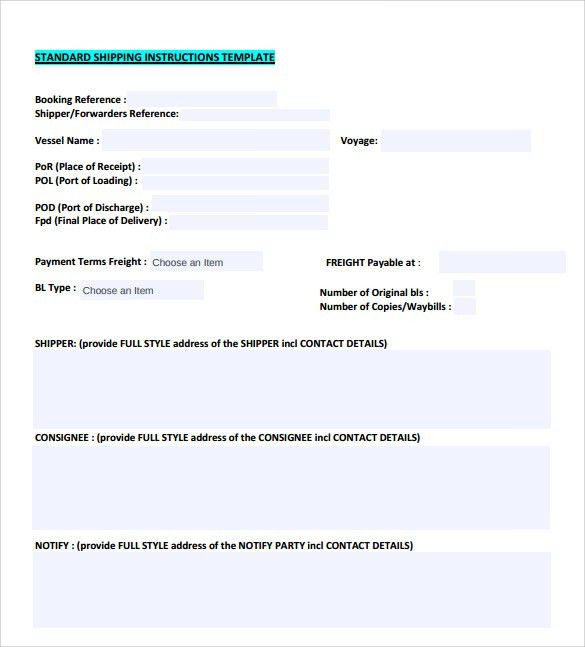 Sample Shipping Manual - 7+ Documents in PDF