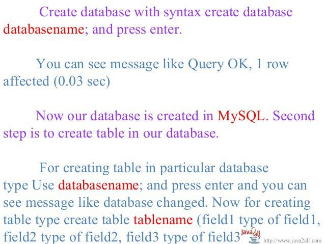Jdbc example program with access and MySql