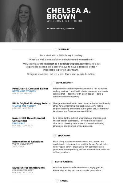 Producer Resume samples - VisualCV resume samples database