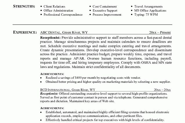 receptionist resume objective by jesse kendlall - Writing Resume ...