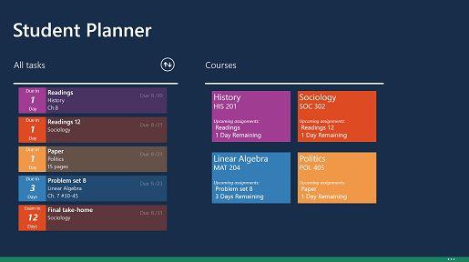 Microsoft Garage: Student Planner