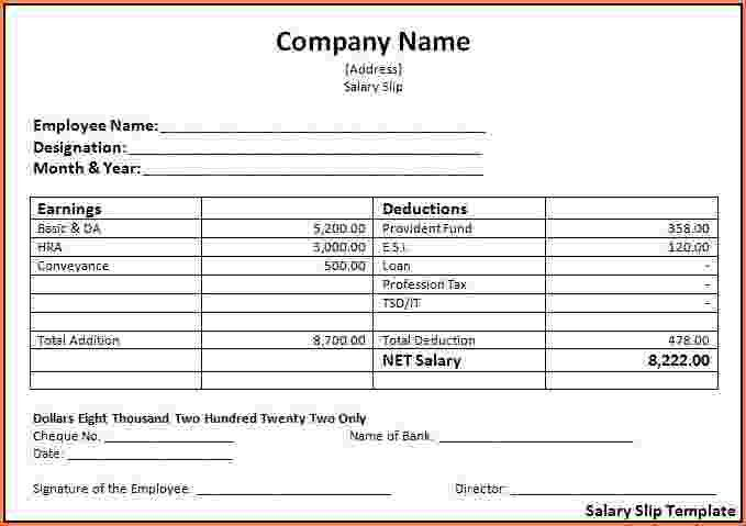 Beautiful Salary Payslip Format In Word Contemporary - Best Resume ...