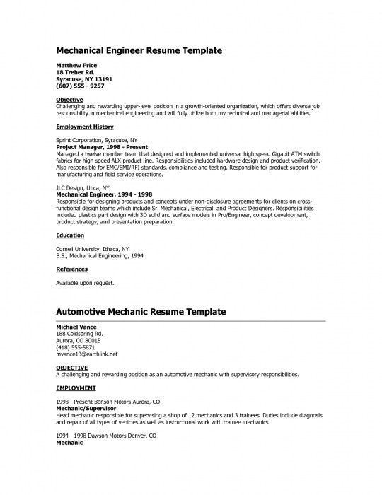 The Awesome Mechanical Engineer Fresher Resume | Resume Format Web