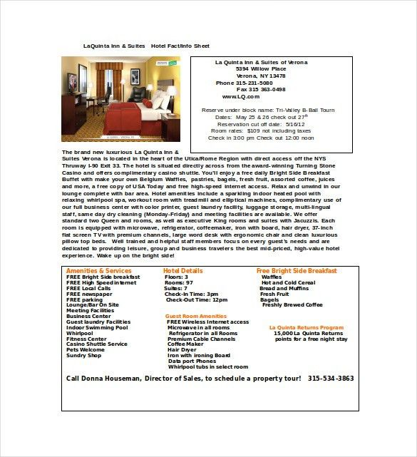 Fact Sheet Template - 15+ Free Word, PDF Documents Download ...