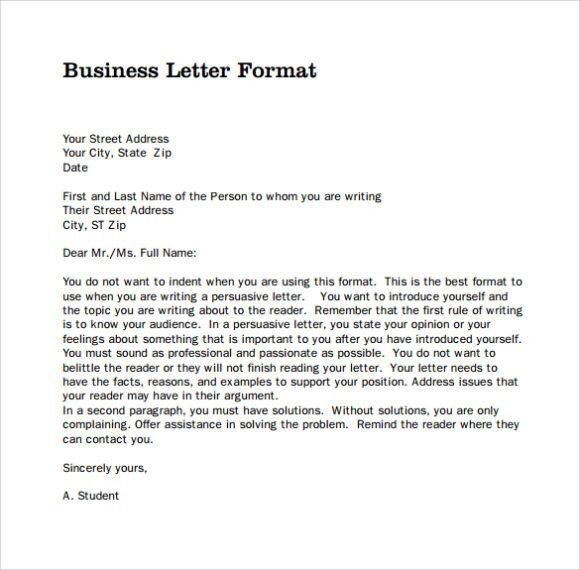 Business letter template Archives - CALENDAR PRINTABLE WITH ...