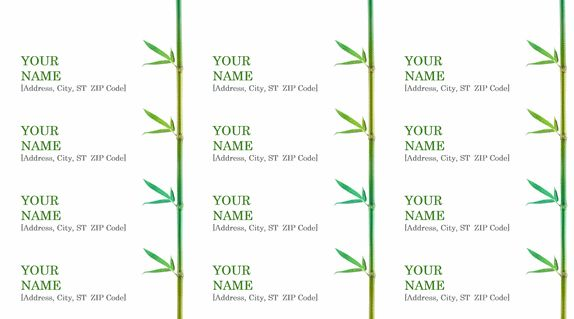 Sample Address Label | Microsoft Word Templates