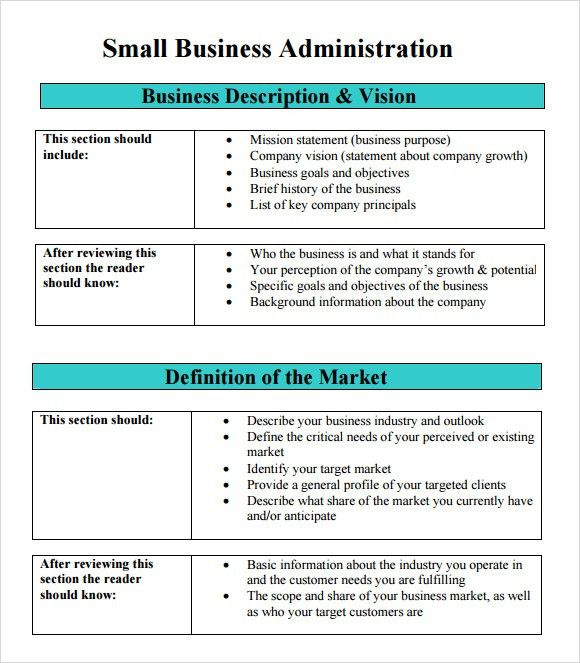 Write business plan sba