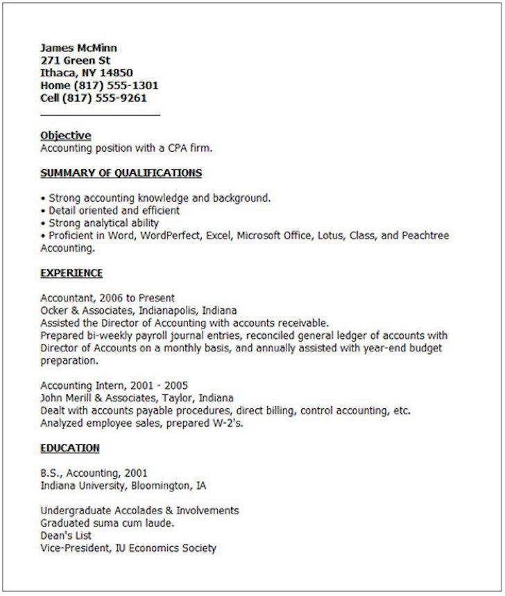 Good Resume Examples For Students. Resume Template For Current ...