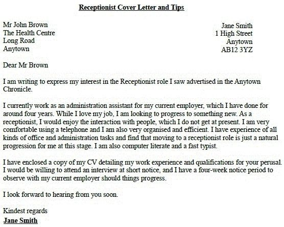cover letter for school receptionist. alistair berg getty images ...