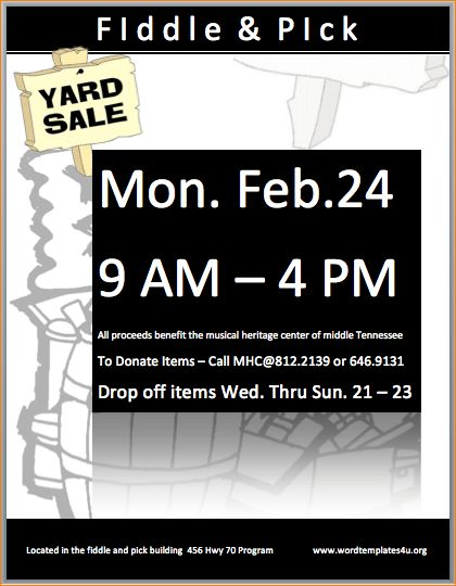 3+ yard sale flyer template | Outline Templates