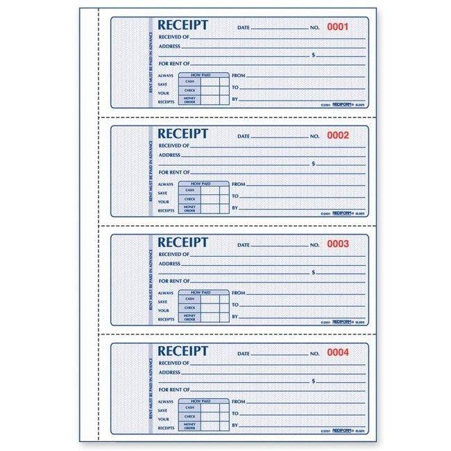 Rediform Rent Receipt Book - Quickship.com