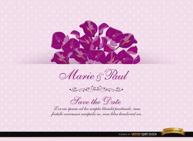 Floristic wedding invitation card Vector | Free Download