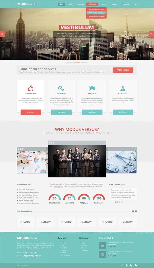 20 Free High-Quality PSD Website Templates - Hongkiat