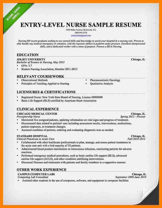 Resume For Rn. rn resumes template billybullock us. nursing resume ...