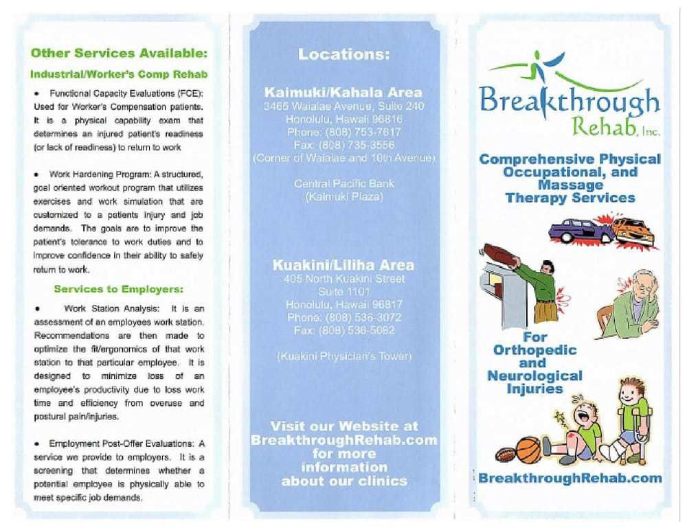 Breakthrough Rehab Inc - Physical Therapy - 3465 Waialae Ave ...