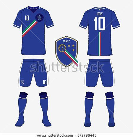 Set Soccer Jersey Football Kit Template Stock Vector 572796445 ...