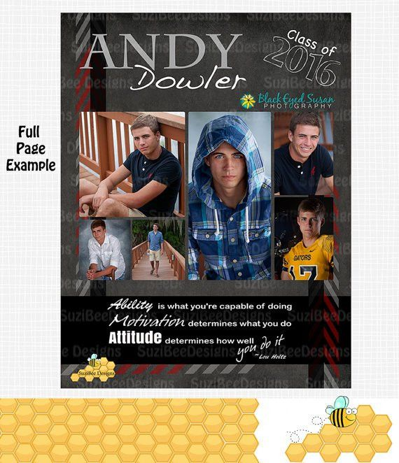 Senior Yearbook Ad Template Ads High School Senior Middle