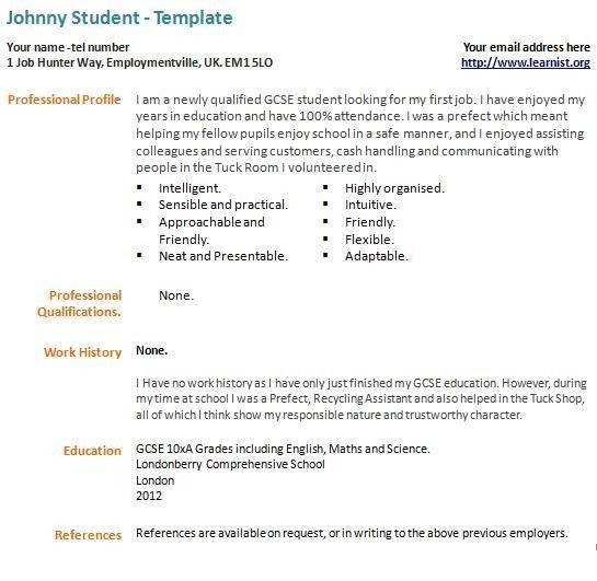 teenager resume free excel templates. resume examples first job ...