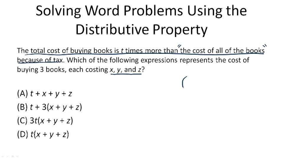 When to Use the Distributive Property ( Video ) | Algebra | CK-12 ...