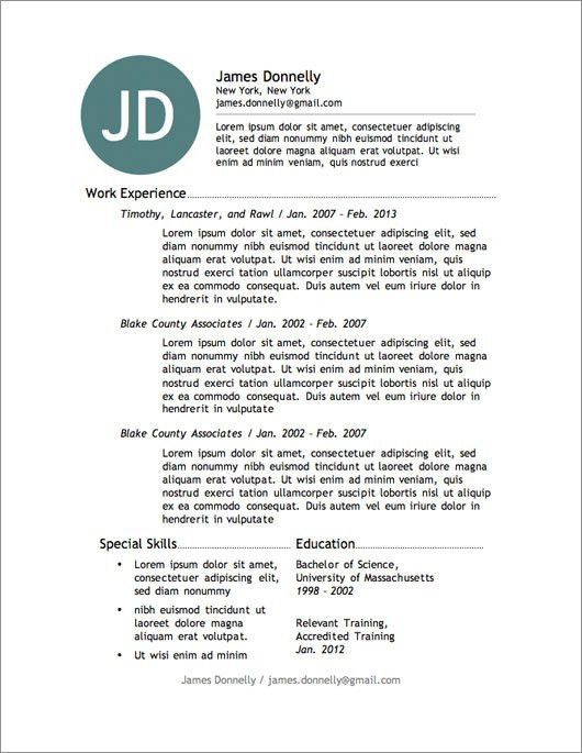Free Resume Writing Templates [Template.billybullock.us ]