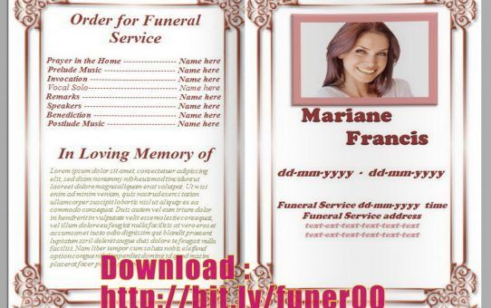 white background Archives - Free Funeral Program Template ...