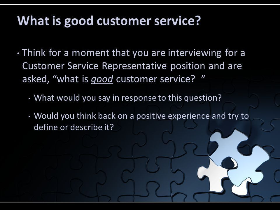 Welcome to lesson one in the Customer Service module - ppt download