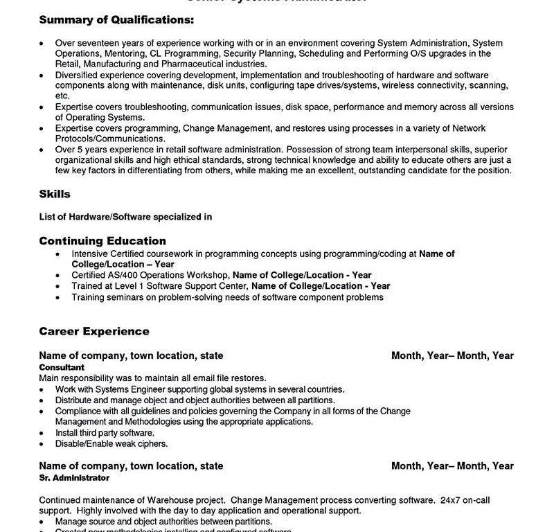 Download Linux System Engineer Sample Resume ...