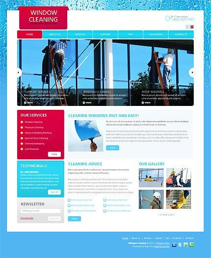 Website Template #30775 Window Cleaning Windows Custom Website ...
