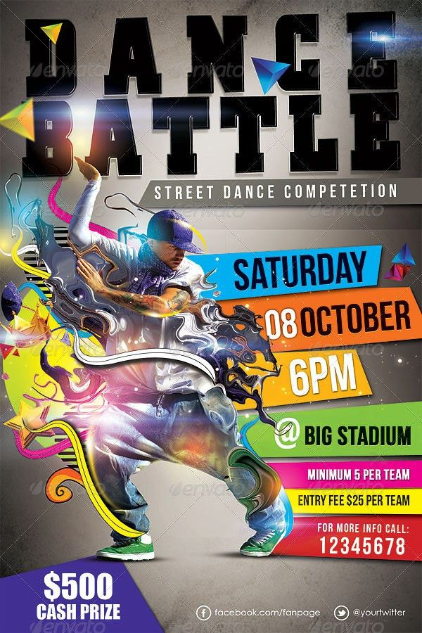 Dance Battle Flyer Template Vol_02 by hermz | GraphicRiver