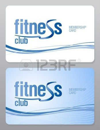 Fitness Club Membership Card Design Template. Royalty Free ...