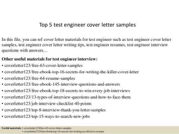 Soa Tester Cover Letter