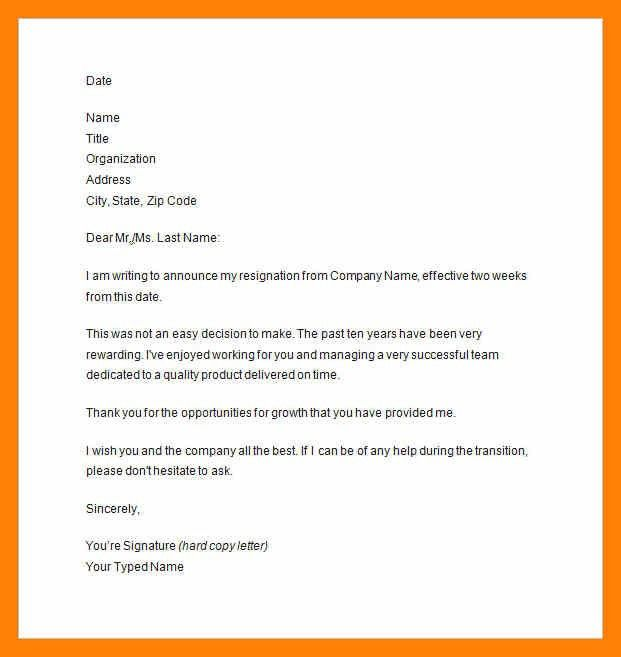 9+ two week notice example | informal letter