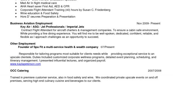 flight attendant resume example attendant resume flight