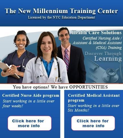 The New Millennium Training Center Medical Assistant /Certified ...