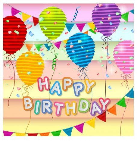 Happy birthday card design template vectors stock in format for ...
