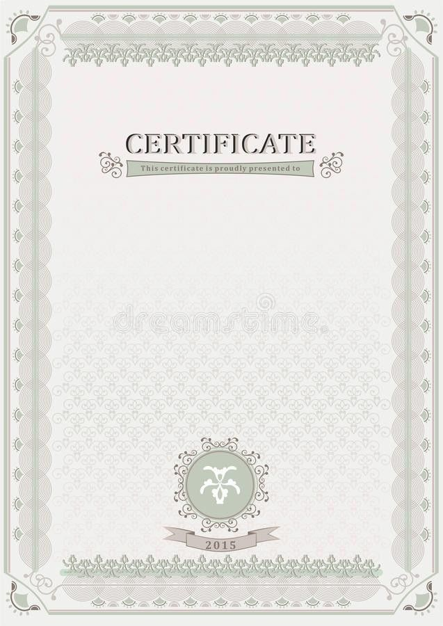 Light Official Certificate. Document Stock Vector - Image: 47395518