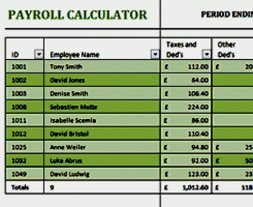 19+ Free Payroll Template - Word Excel Formats