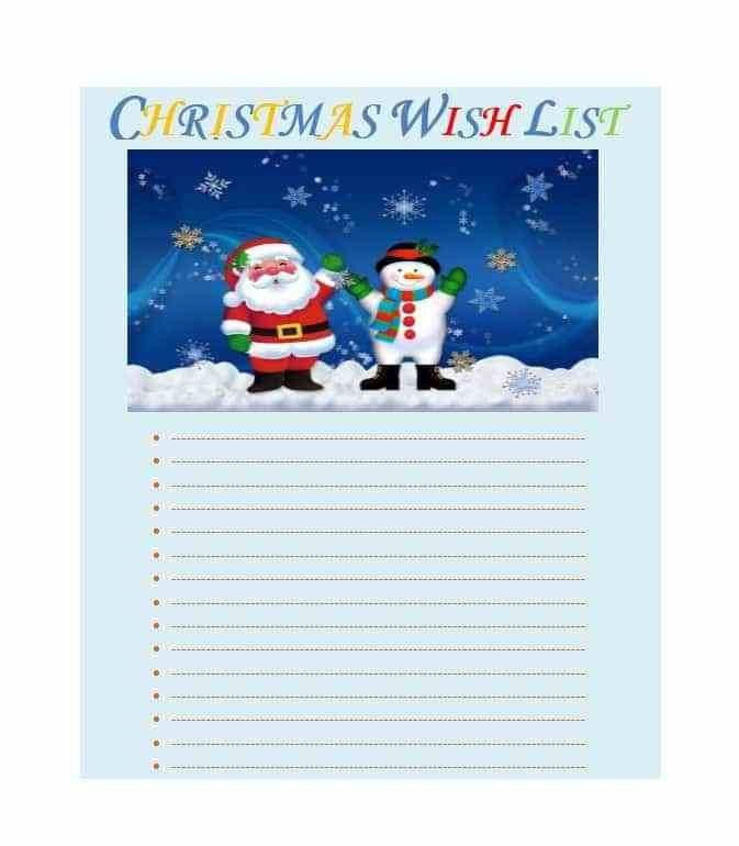 43 Printable Christmas Wish List Templates & Ideas - Template Archive