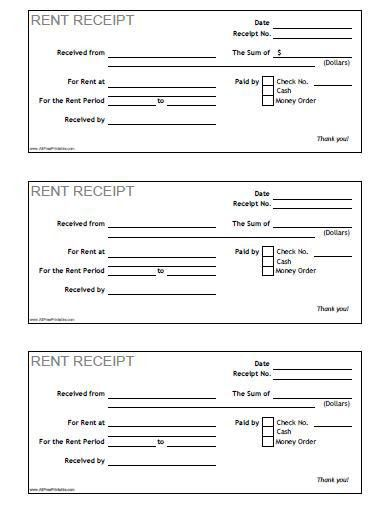 Rent Receipt - Free Printable - AllFreePrintable.com
