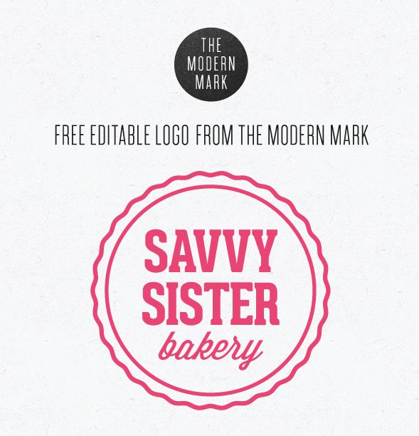 Editable Logo Design Template Free | Free Stuff! Design for All ...