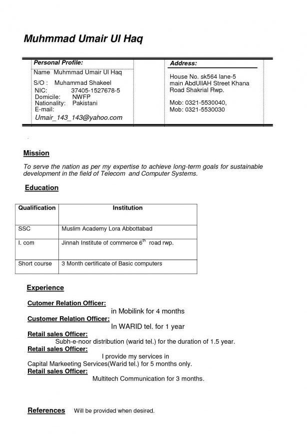 Curriculum Vitae : Server Resume Template Free Post Resume Online ...