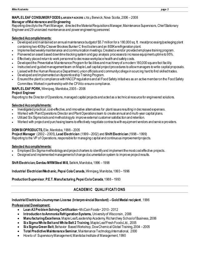 plant superintendent resume sample it manager resume resume it