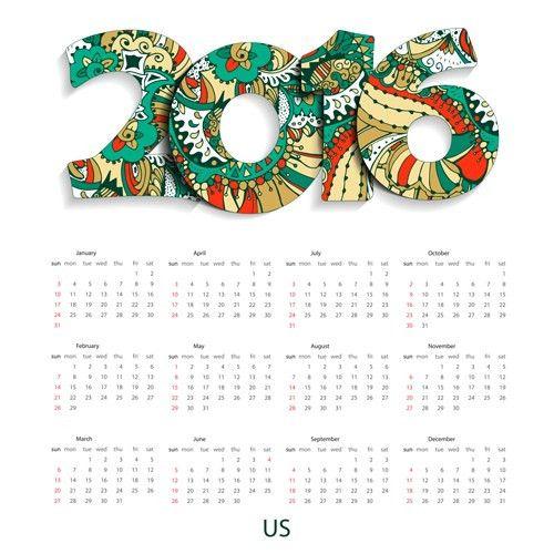 Sample design wall calendars gorgeous exquisite singing in 2016 ...