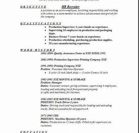 examples of resumes resume template summary objective top ...