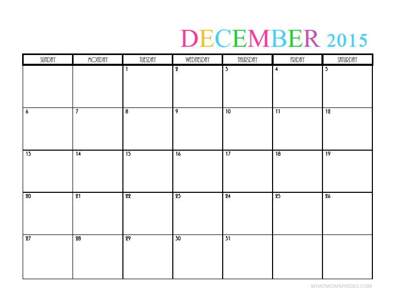 2015 Monthly Calendar Templates | Monthly calendar template ...