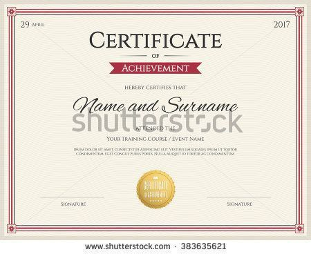 106 best Certificate template images on Pinterest | Certificate ...