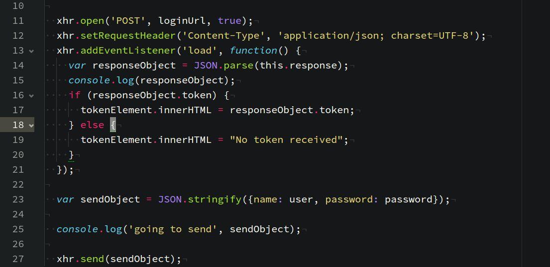 Example: JSON Web Tokens with Vanilla JavaScript - JonathanMH