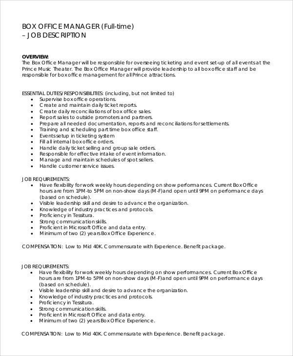 Cover letter to office manager