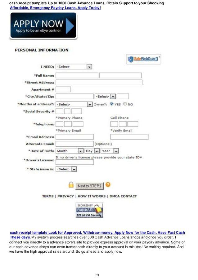 cash receipt template 200-1000 Australia Bad Credit Loans, Obtain Sup…