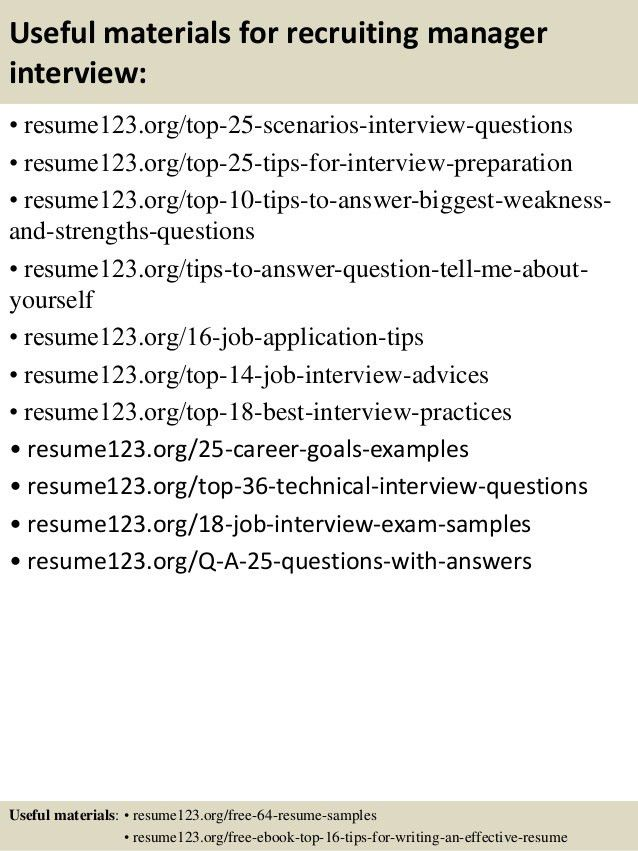 recruiting manager resume it recruiter resumes business strategy ...